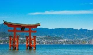 Il celebre Torii di Miyajima
