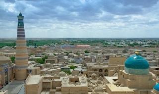 Tour Uzbekistan: l'antica città di Khiva dall'alto