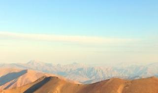 Vista panoramica di una zona montuosa dell'Uzbekistan