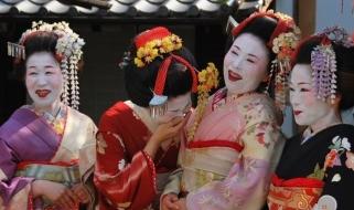 Tour Giapponese - Gruppo di geishe negli abiti tradizionali