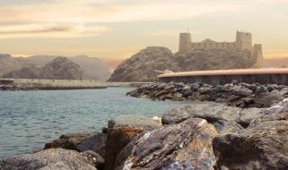 Panoramica dalla costa del forte Al Jalali nella capitale Muscat