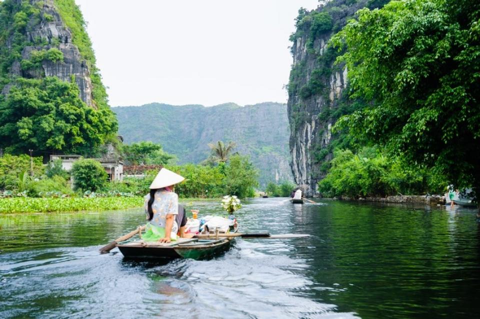 Tradizionale imbarcazione vietnamita