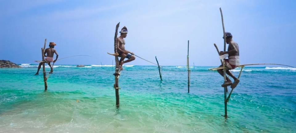 Viaggio in Sri Lanka - Pescatore sulle coste dell'isola