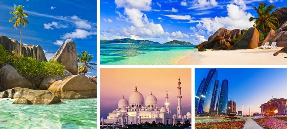 Abu Dhabi e Seychelles  viaggio combinato