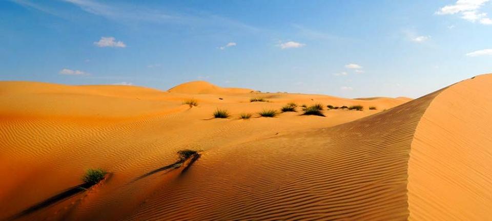 Paesaggio mozzafiato catturato durante un'escursione in Oman
