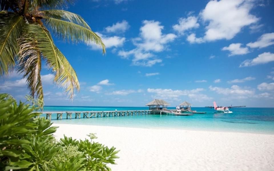 Spettacolare spiaggia delle Maldive