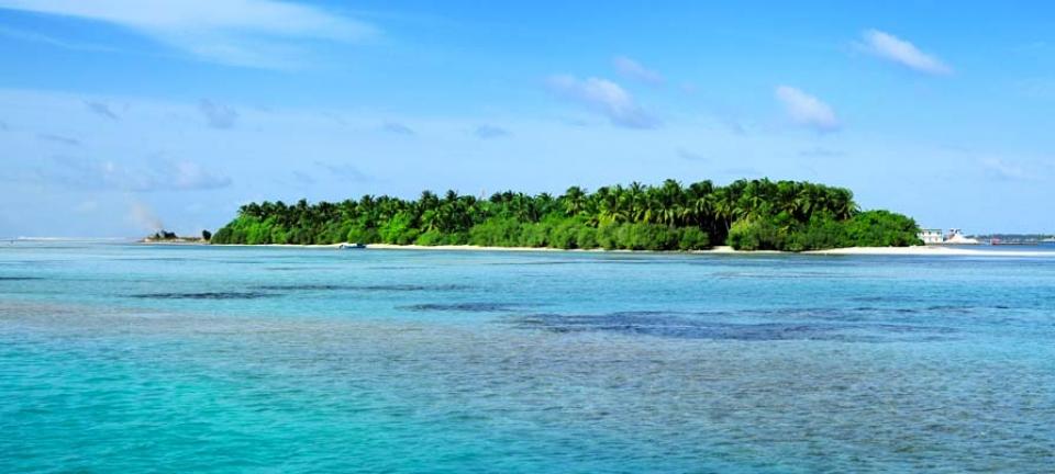 Maldive isola vista mare
