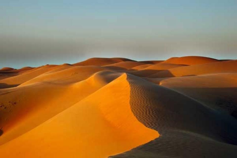 Il deserto è una delle attrazioni dell'Oman
