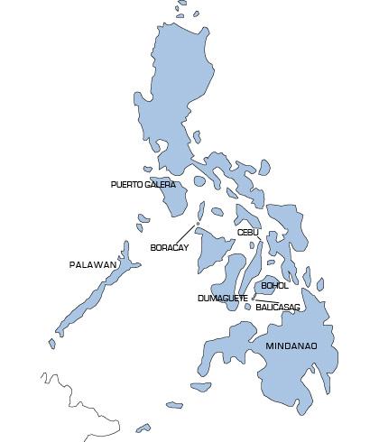 Mappa utile per capire dove andare in viaggio nelle Filippine